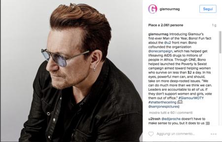 Bono Vox per Glamour